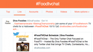How To Follow A Tweet Chat #FoodTVChat