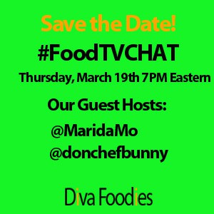 """Diva Foodies Twitter #FoodTVChat Week 2"""