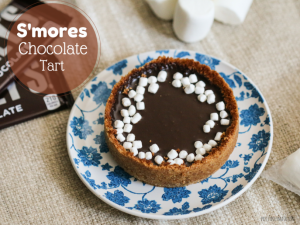 """Smores chocolate tart"""