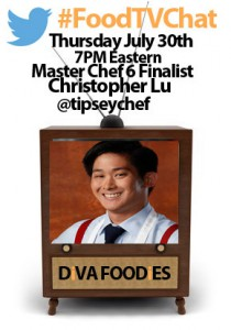 """#FoodtvchatwithChristopher Lu"""