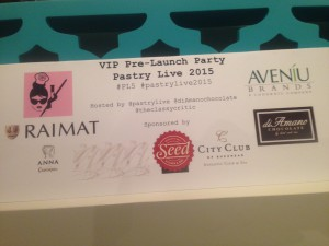 Pastry Live 2015 Pre Launch Party
