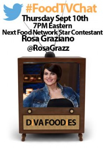 """#FoodtvchatwithRosaGraziano"""