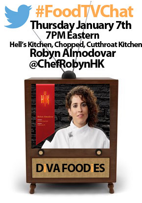 """#Foodtvchat with Robyn Almodovar"""