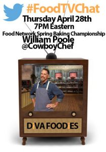 """#FoodtvchatwithWilliamPoole"""