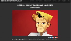 Diva Foodies Gordon Ramsay DASH Website