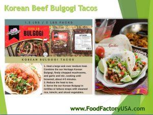 Korean Beef Bulogi Tacos