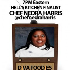 #FoodTVChat with Chef Nedra Harris